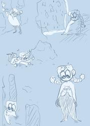 Sodalite doodle dump by Bubblybluejellyfish