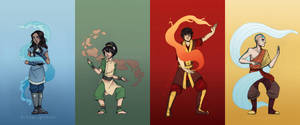All Four Elements. by WillowLightfoot