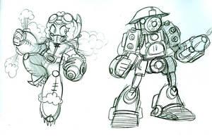 Mega Man Steampunk 5 by Deviant-Man