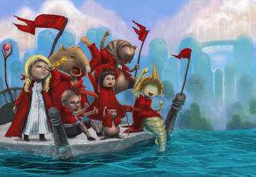 The Red Coats Set Sail by dog-food