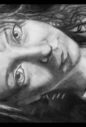 Self Portrait Drawing by Leuliini