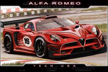 Alfa Romeo LeManns Supercar by jonsibal