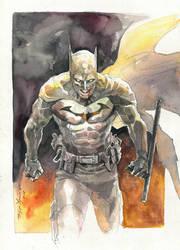 Batman watercolor commission by Hristov13