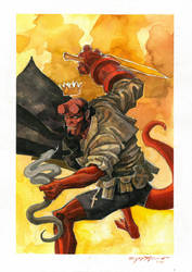 Hellboy Commission 3 by Hristov13
