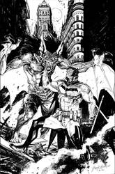 Batman White Knight Commission by Hristov13