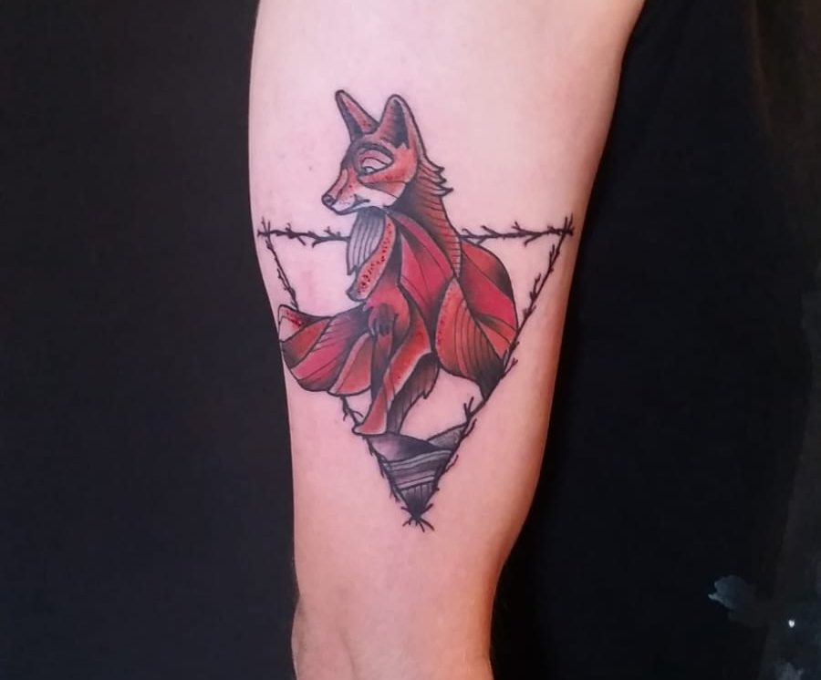 Tattoo #1 : Fox by andreb1996