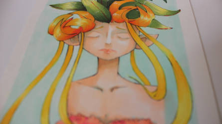 Copic Painting | Wildflower Girl by junesketches