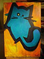 funky bluegreen cat by MRHaZaRD