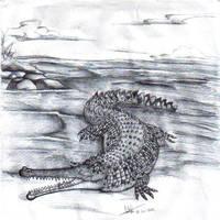 Teleosaurus geoffroyi by Hueycuetzpalin