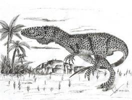 Herrerasaurus by Hueycuetzpalin