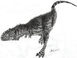 Tarbosaurus bataar by Hueycuetzpalin