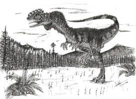 Dilophosaurus wetherelli by Hueycuetzpalin