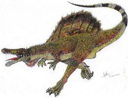 Spinosaurus aegyptiacus color by Hueycuetzpalin