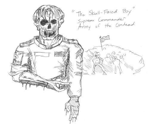 The Skull-Faced Boy and Army by davidbarrkirtley