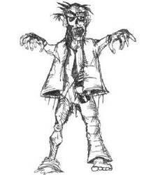 Zombie by davidbarrkirtley