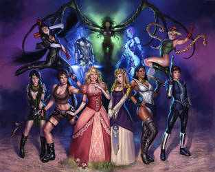 Video Game Girls by Rhineville