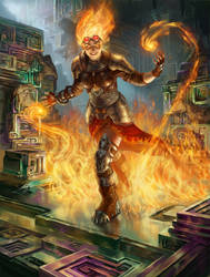 Chandra, Flamecaller by Rhineville