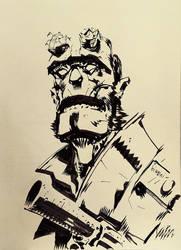 Hellboy sketch by francesco-biagini