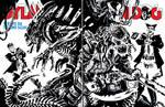 Dylan Dog vs. Alien vs. Predator vs. Groucho by francesco-biagini