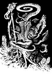 Nyarlathotep - The Black Pharaoh by francesco-biagini
