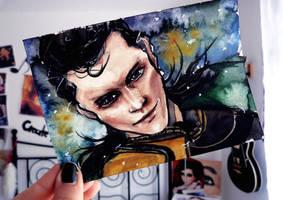Loki doodle + tutorial by Farbenfrei