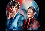Sherlock Holmes and John Watson by Farbenfrei