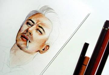 Robert Downey JR WIP by Farbenfrei