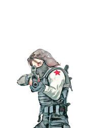 THE WINTER SOLDIER - Bucky Barnes by Farbenfrei