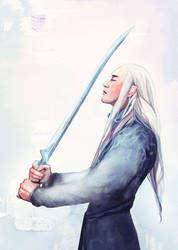 Do not go gentle into that good night - THRANDUIL by Farbenfrei