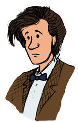 11th Doctor Sketch colored by jhguitarfreak