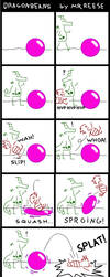Dragonbeans and Zoe - Pink Beach Ball by MrReese-Mysteries