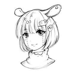Lacey - Digital Sketch by RenayaArt