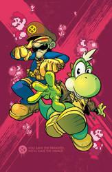 Luigi And Yoshi by basicnoir