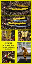Pikachu Katana Set by fixinman