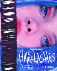 Hair and Lashes Brushset for Procreate by heymaryjean