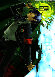 Persona 3 + Protagonist by BakaMandy