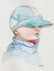 A boy in blue by ypnogatis