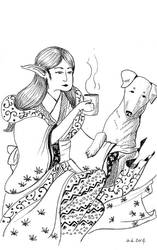 Elf and dog.. by ypnogatis