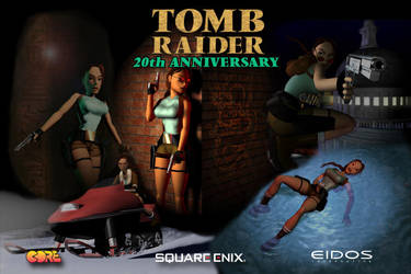 Tomb Raider 20th Anniversary Collage Poster by maskedlion3