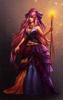 Pink haired sorceress by andrada-art