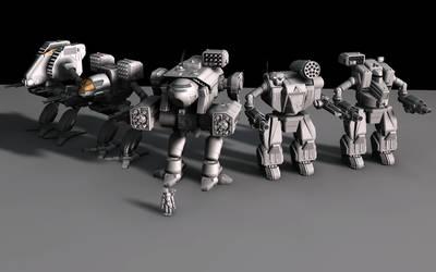 Battletech / MechWarrior Mesh Render 4 by lady-die
