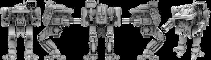 Battletech / MechWarrior Warhawk by lady-die