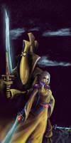 Iyanden warlock by Mizoro