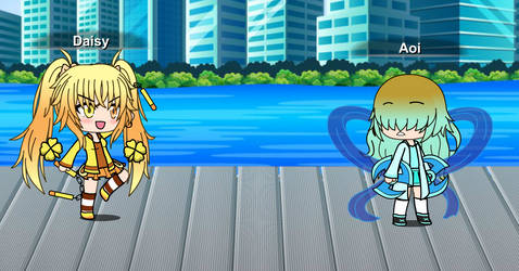 Daisy vs Aoi by BlazingRebecca