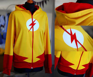 YOUNG JUSTICE: kid flash hoodie (2.0) by envylicious