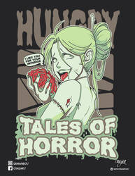 Zombie shirt anime girl face Tales of horror by The-Ozperf
