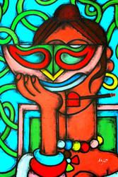 Masque magique de Frida by amiejo