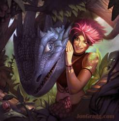 Jaidyn and Thunder by JonathanGragg