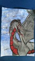 dragon  by stephaniedraw