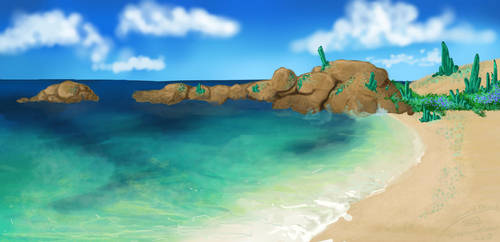 emerald beach by stephaniedraw